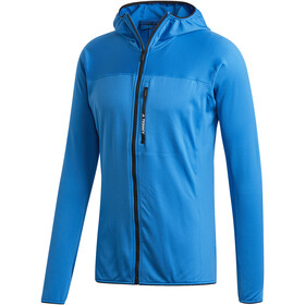 adidas TERREX TraceRocker Hooded Fleece Jacket Men shoblu
